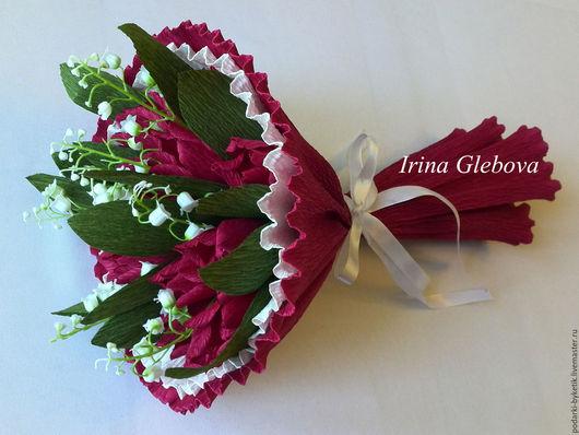"""Букеты ручной работы. Ярмарка Мастеров - ручная работа. Купить Букет из конфет """"Тюльпаны"""". Handmade. Розовый, букет, тюльпаны"""