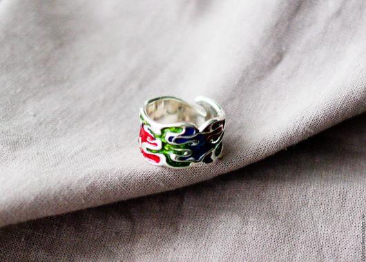 """Кольца ручной работы. Ярмарка Мастеров - ручная работа. Купить Кольцо """"Палитра"""". Handmade. Серебряное кольцо"""