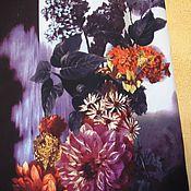 Одежда handmade. Livemaster - original item The floor-length skirt Evening Garden purple flowers. Handmade.