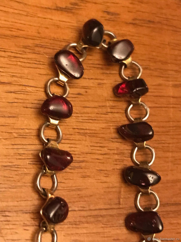 Bracelet 'Garnet', handmade, Holland, Vintage bracelets, Arnhem,  Фото №1