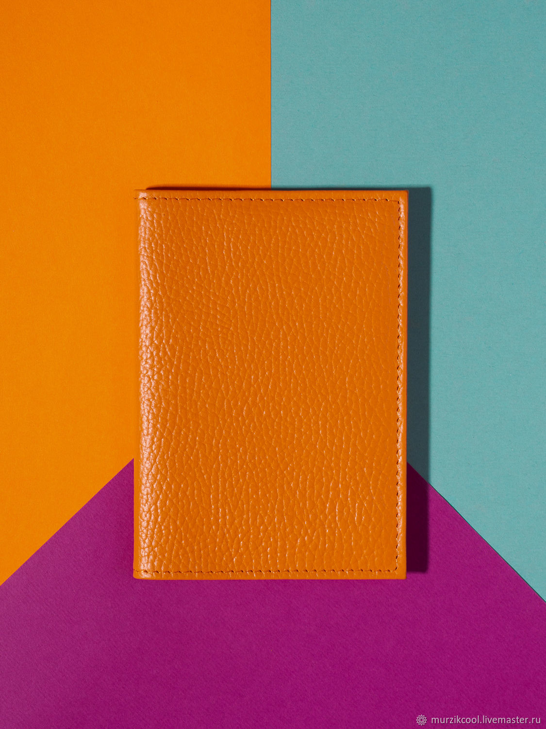 Passport cover 'Classic' Orange, Cover, Moscow,  Фото №1