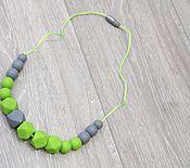 Работы для детей, ручной работы. Ярмарка Мастеров - ручная работа Силиконовые слингобусы Свежая зелень. Handmade.