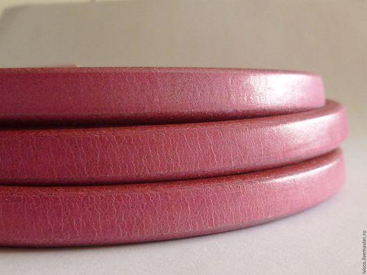 Для украшений ручной работы. Ярмарка Мастеров - ручная работа. Купить Шнур Регализ 10х6мм розовый. Handmade. Кожаный шнур