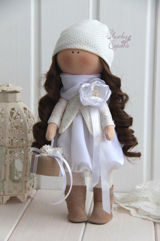 Куклы тыквоголовки ручной работы. Ярмарка Мастеров - ручная работа. Купить Свадебная девочка Натали.. Handmade. Белый, кукла в подарок