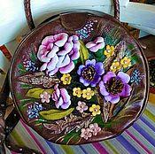 Сумки и аксессуары handmade. Livemaster - original item Bag leather round