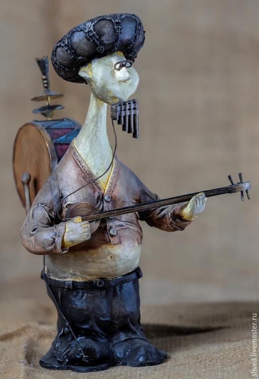 """Коллекционные куклы ручной работы. Ярмарка Мастеров - ручная работа. Купить """"Человек - оркестр"""". Handmade. Кукла ручной работы, скульптура"""