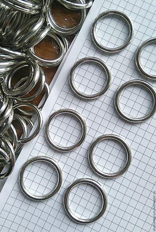 Другие виды рукоделия ручной работы. Ярмарка Мастеров - ручная работа. Купить Кольца литые металлические диаметр 30/24 мм. Handmade.