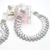 Украшения handmade. Livemaster - original item A necklace of pearls Chayka. Handmade.