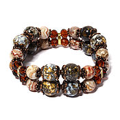 Украшения handmade. Livemaster - original item Jasper bracelet for good luck and protection