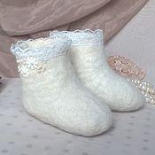 Подарки к праздникам handmade. Livemaster - original item Gift boots. Toy boots. A gift for the birth.. Handmade.