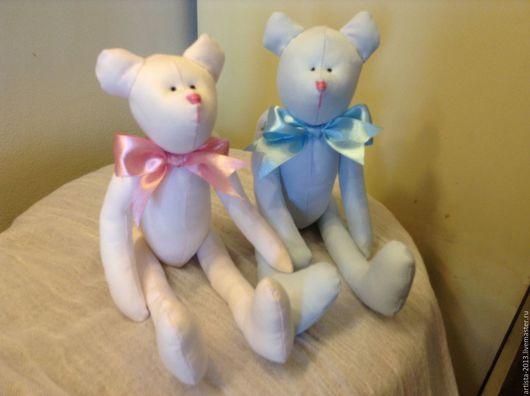 Игрушки животные, ручной работы. Ярмарка Мастеров - ручная работа. Купить мишка -младенец. Handmade. Бледно-розовый, для детей