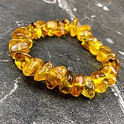 Bead bracelet handmade. Livemaster - original item Bracelet made of natural amber. Handmade.