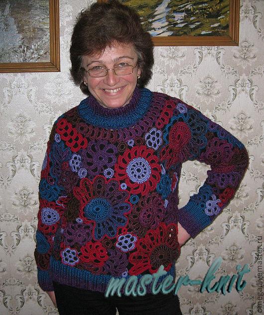 Кофты и свитера ручной работы. Ярмарка Мастеров - ручная работа. Купить Джемпер. Handmade. Абстрактный, крючком, вязание на заказ