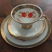 Винтаж handmade. Livemaster - original item Tea trio Winterling. Handmade.