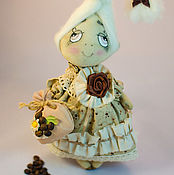 Куклы и игрушки ручной работы. Ярмарка Мастеров - ручная работа Текстильная кукла Капелька Кофейного Настроения. Handmade.