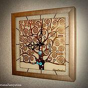 """Для дома и интерьера ручной работы. Ярмарка Мастеров - ручная работа Часы """"Древо жизни"""" квадратные. Handmade."""