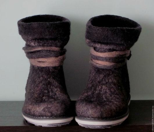 """Обувь ручной работы. Ярмарка Мастеров - ручная работа. Купить Сапожки короткие """"Сумерки"""". Handmade. Валенки ручной работы"""