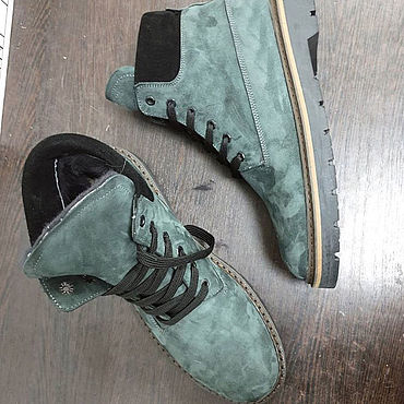 Обувь ручной работы. Ярмарка Мастеров - ручная работа Ботинки из натурального нубука Обувь ручной работы. Handmade.