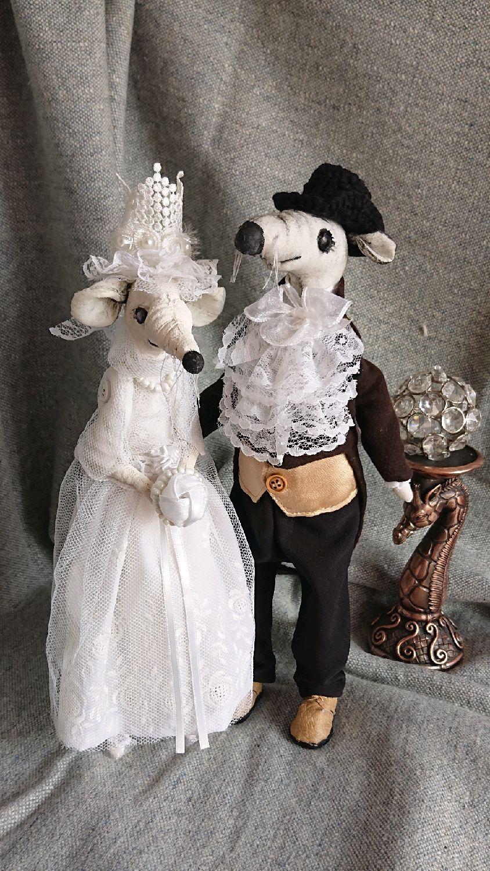 Свадебная парочка крыс ручной работы, Подарки, Москва,  Фото №1