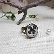 Rings handmade. Livemaster - original item Vintage Ring Four Leaf Clover Ireland Good Luck St. Patrick. Handmade.