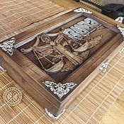 Для дома и интерьера ручной работы. Ярмарка Мастеров - ручная работа Резное дерево_ Шкатулка_BUDA. Handmade.