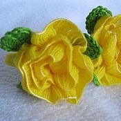 Украшения handmade. Livemaster - original item Loom BANDS for hair ROSES knitted original. Handmade.