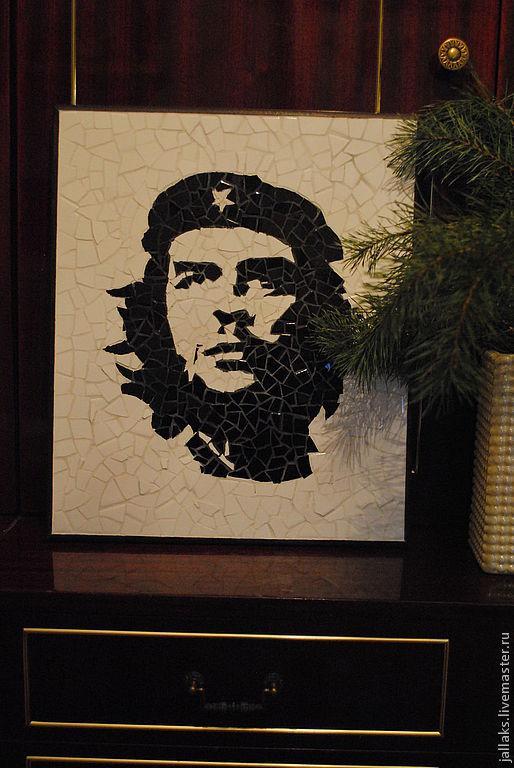 Люди, ручной работы. Ярмарка Мастеров - ручная работа. Купить Че Гевара. Handmade. Чёрно-белый, мозаичное панно