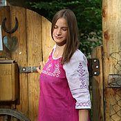 Русский стиль ручной работы. Ярмарка Мастеров - ручная работа платье русское, обережное. Handmade.