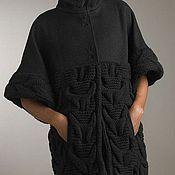 """Одежда ручной работы. Ярмарка Мастеров - ручная работа Пальто - кардиган """"Черный тюльпан"""". Handmade."""