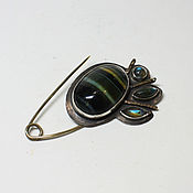 Brooches handmade. Livemaster - original item Brooch with tiger eye. Handmade.