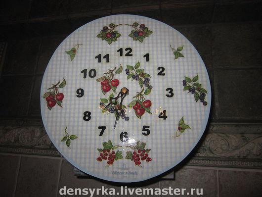 Часы для дома ручной работы. Ярмарка Мастеров - ручная работа. Купить Часы Villeroy&Boch. Handmade. Часы, ежевика, черника, Виллерой