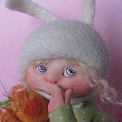 """Куклы и пупсы ручной работы. Ярмарка Мастеров - ручная работа зайка-малышка""""Козявочка"""" и кот Кшиш. Handmade."""