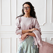 Одежда handmade. Livemaster - original item Knitted jumper made of viscose Powder, pink woolen jumper. Handmade.