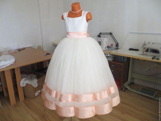 Одежда для девочек, ручной работы. Ярмарка Мастеров - ручная работа. Купить Нарядное платье для девочки. Handmade. Белый, Платье нарядное
