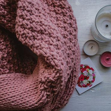 """Аксессуары ручной работы. Ярмарка Мастеров - ручная работа Вязаный розовый шарф """"Pastila"""". Handmade."""