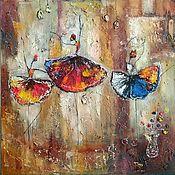 Картины и панно handmade. Livemaster - original item Interior painting of Ballerinas with texture paste. Handmade.