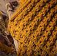 Купить шарф горчичного цвета. Осенняя мода 2016. Handmade.