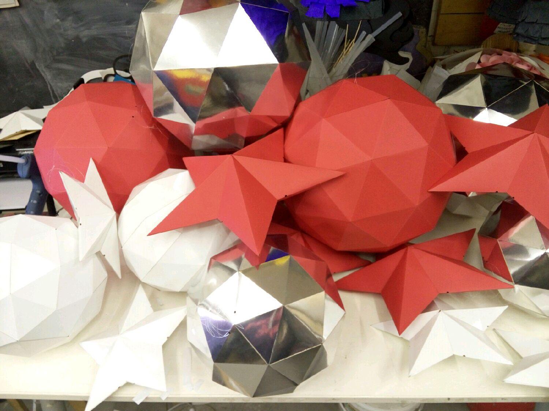 Как сделать звезду из картона объёмную