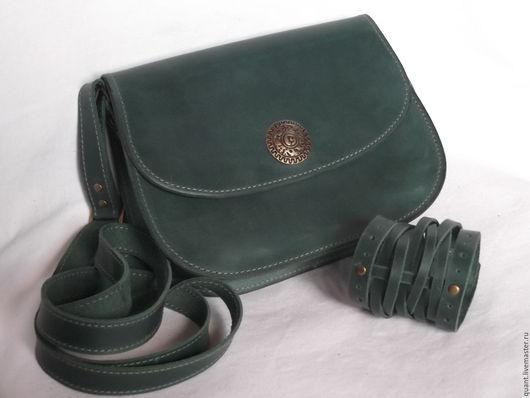 Женские сумки ручной работы. Ярмарка Мастеров - ручная работа. Купить женский кожаный набор аксесуаров с сумкой. Handmade.