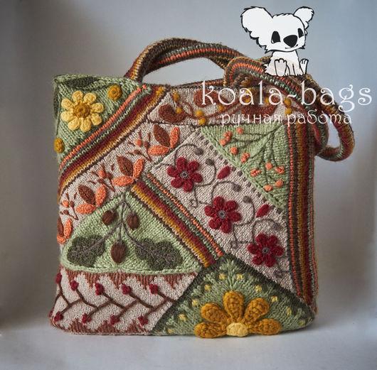 Женские сумки ручной работы. Ярмарка Мастеров - ручная работа. Купить сумка-тоут вязаная пэчворк 12 НАСТРОЕНИЙ.СЕНТЯБРЬ tote-bag. Handmade.