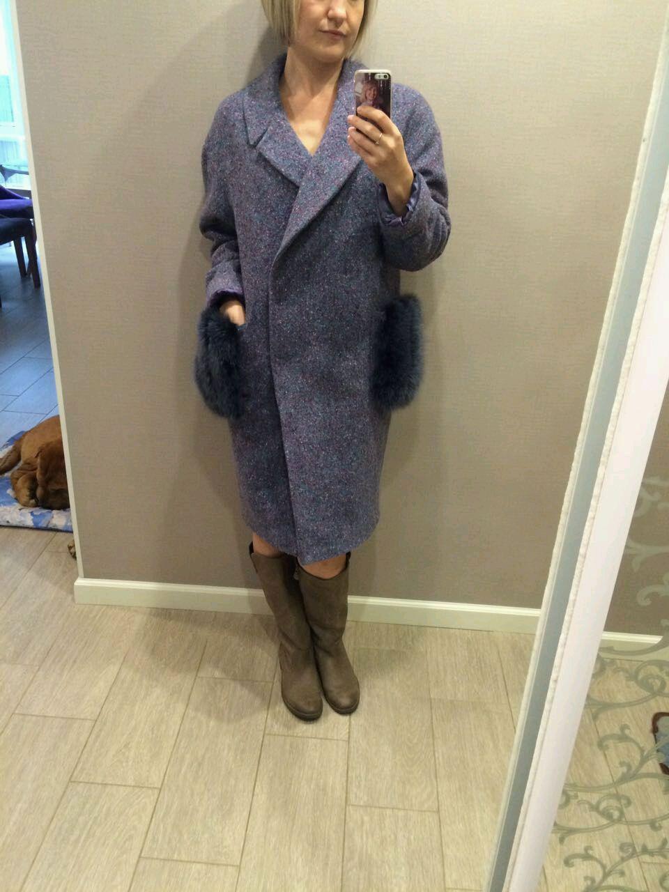 Пальто оверсайз с меховыми карманами, Пальто, Чебоксары,  Фото №1