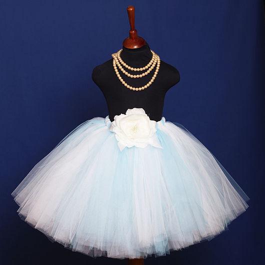 """Одежда для девочек, ручной работы. Ярмарка Мастеров - ручная работа. Купить """"Снежная равнина"""" длинная пышная юбка-пачка из фатина. Handmade."""