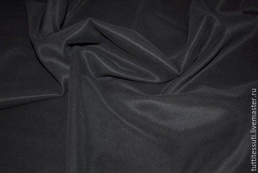 Шитье ручной работы. Ярмарка Мастеров - ручная работа. Купить Костюмная ткань 05-003-0540. Handmade. Черный, эластан