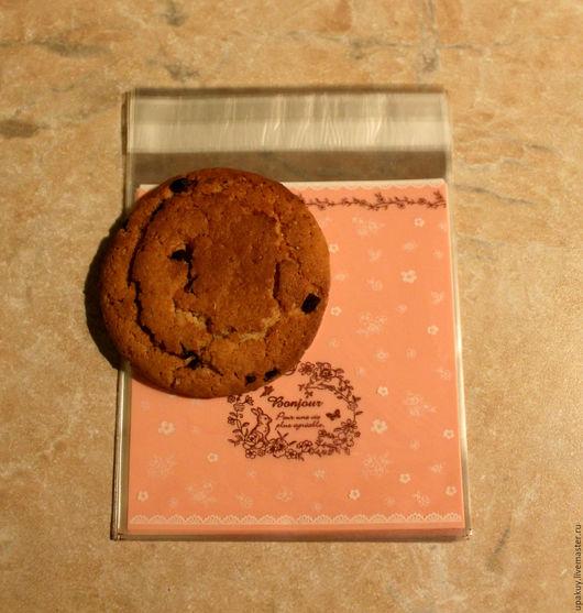 Упаковка ручной работы. Ярмарка Мастеров - ручная работа. Купить Пакетики с клейкой лентой 9,5x10 см.. Handmade. Розовый