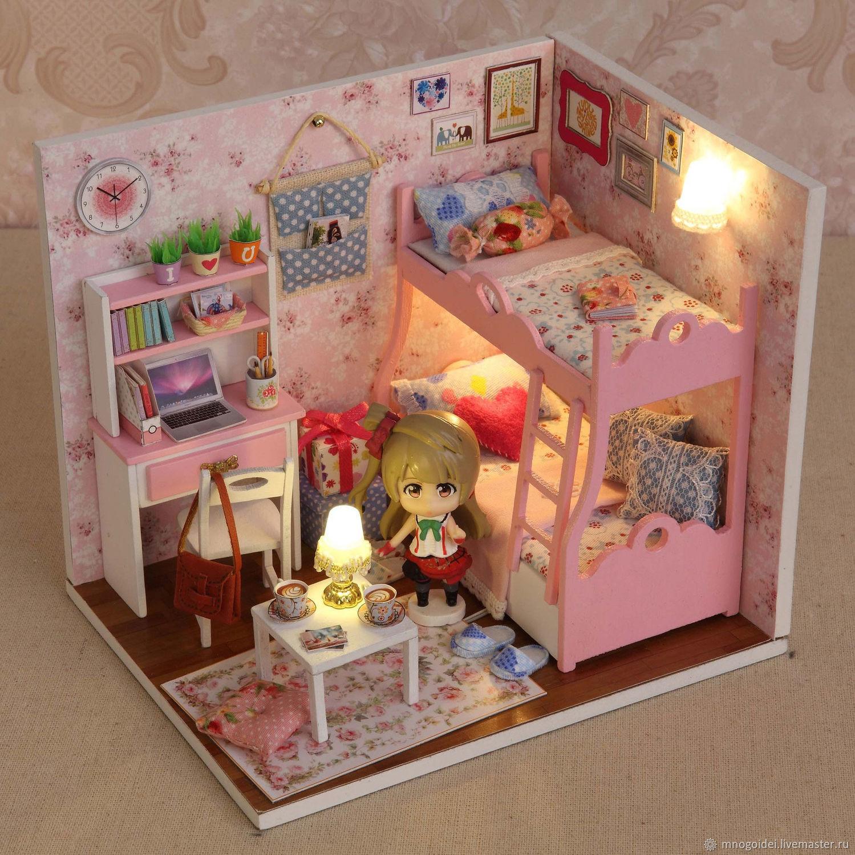Мебель для маленьких игрушек своими руками из бумаги 66