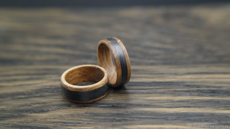 Carbon fiber ring Wood ring Wedding ring wooden ring unusual