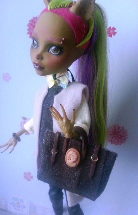 Коллекционные куклы ручной работы. Ярмарка Мастеров - ручная работа. Купить ООАК Monster High Кловенера. Handmade. Комбинированный