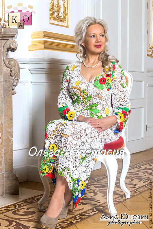"""Одежда ручной работы. Ярмарка Мастеров - ручная работа. Купить Ирландское кружево платье """"Королеве Людмиле"""",авторская работа. Handmade."""