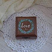 """Свадебный салон ручной работы. Ярмарка Мастеров - ручная работа """"Lavender Wed"""" - свадебная шкатулка для обручальных колец. Handmade."""