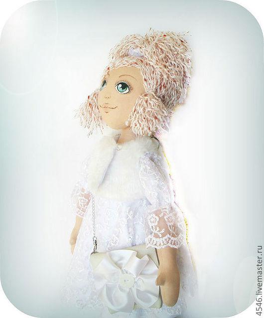 Коллекционные куклы ручной работы. Ярмарка Мастеров - ручная работа. Купить Большие куклы- Лия. Handmade. Белый, текстильная кукла